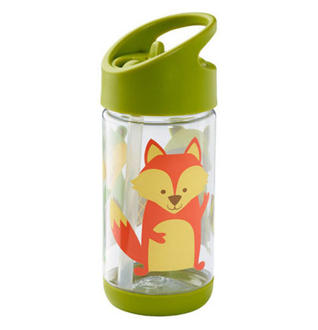 Flip & Sip cup with a fox and a green lid.