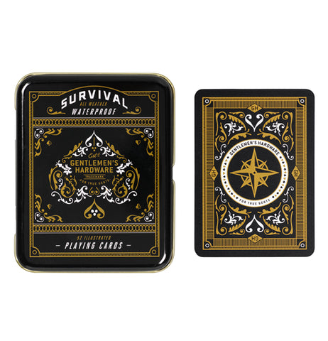 Cool decorative gold and black playing cards.