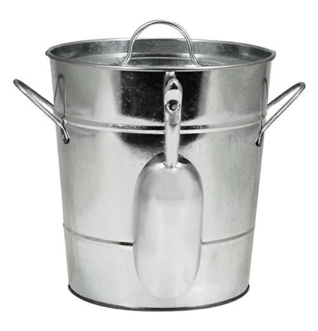 "Ice Bucket, Galvanized ""Country Home"""