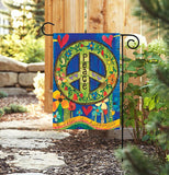 "Garden Flag ""Peace Everywhere"""