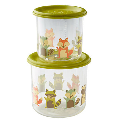 "The Large Good Lunch Large ""What Did the Fox Eat?"" Snack Container with Set of 2."