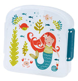 This semi-clear sandwich box with a mermaid under sea theme will delight children.