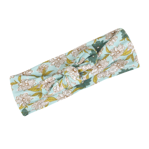 Bamboo Headband, Blue Floral