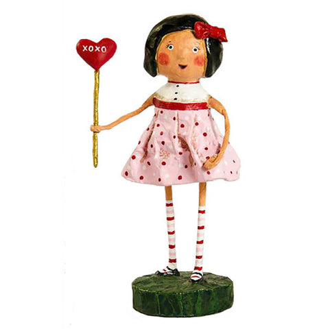 Little Girl with a Heart on a Stick