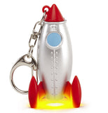 A Rocket Key Chain with a silver clip.