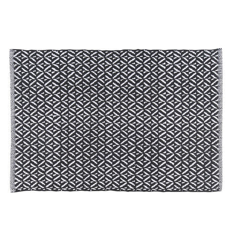 Kitchen Mat with Black Diamond Weave
