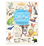 "The front cover of the book shows animals of different kinds and ""Learn to Draw Animals""."