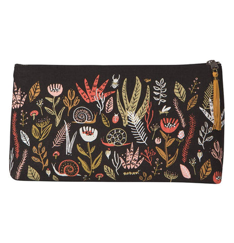 Linen Cosmetic Bag Large Small World