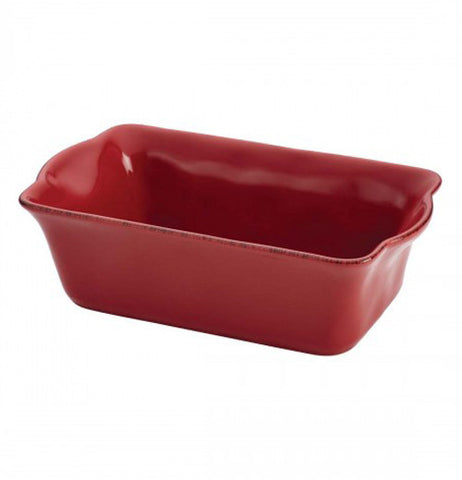 This is a red oven Loaf Pan.