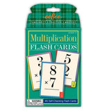 "The ""Multiplication"" Flash Cards has 46 fully illustrated self-checking flash cards that are packaged in green."