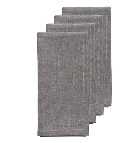 set of 4 Napkin Pewter color