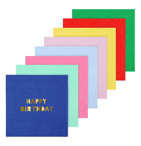 "Napkins, Large Paper (Set of 8) ""Happy Birthday"""