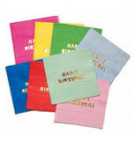 "Napkins, Paper (Set of 8) ""Happy Birthday"""