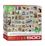 Animals of North America Vintage Stamps 500-Piece Puzzle