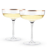 Beverages, such as champagne and wine,  are definitely made for the two tumblers