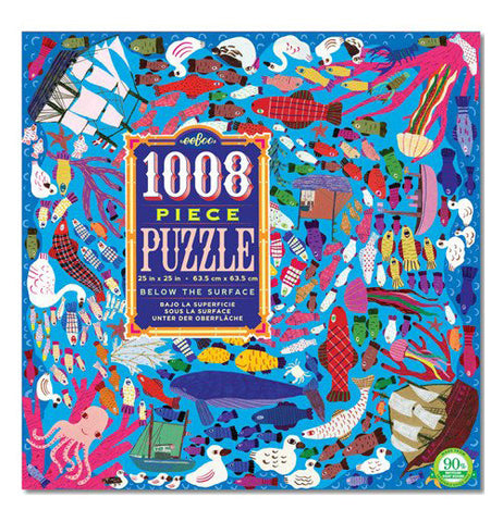 This is the box for the 1008 piece puzzle and shows all the kinds of sea animals in the ocean and some varieties of boats