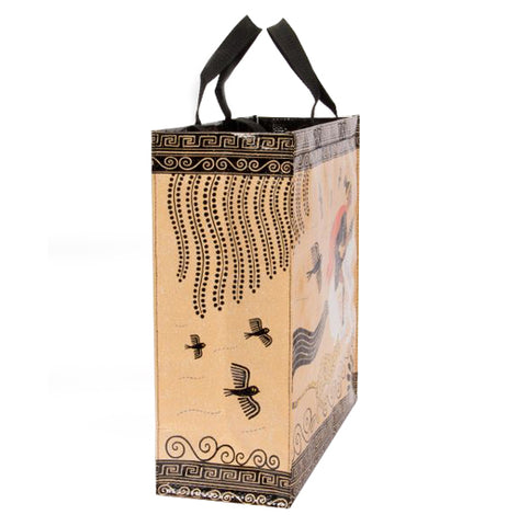 "The ""Hero"" Shopper Tote Bag has three birds flying on the side of the bag."