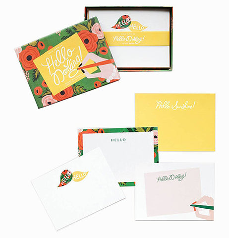 "Little Red Hen-Fred & Friends-Stationary Set ""Hello Darling"""