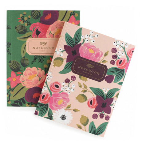"Little Red Hen-Fred & Friends-Notebooks (Set of 2) ""Vintage Blossoms"""