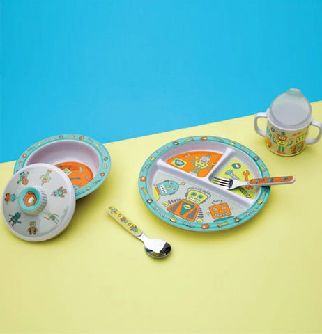 "Baby Bowl Set ""Retro Robot"""