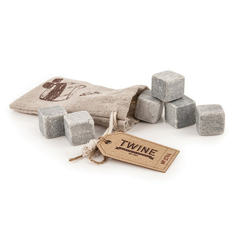 Set of 6 cooling stones to go in your drink instead of ice cubes with bag.