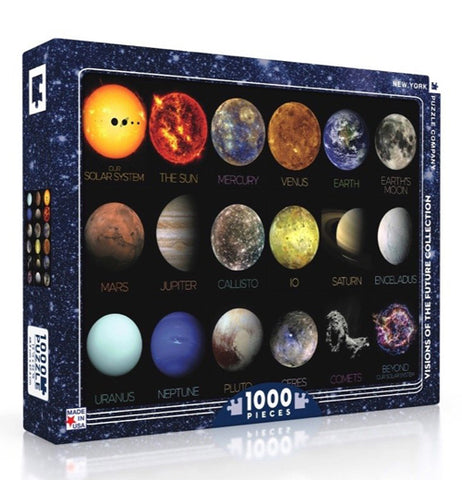 The Solar System Puzzle - 1000 Pieces