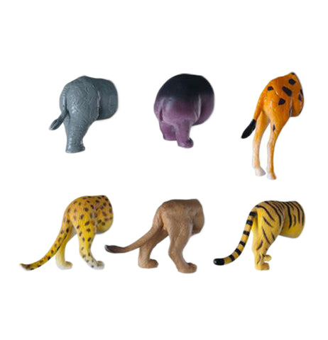 These are magnets in the shapes of safari animal butts.