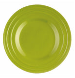 This salad plate is green.