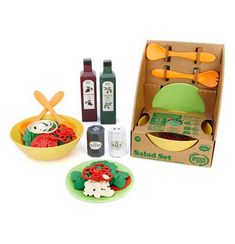 colorful Salad Set made from recycled materials