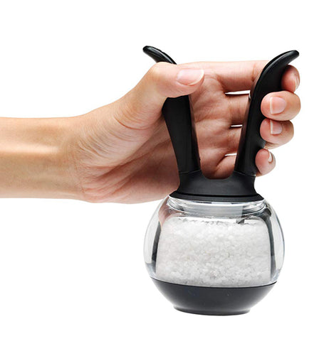 This salt ball grinder has an easy to flip salt grinder thats easy to grin your sea salt.