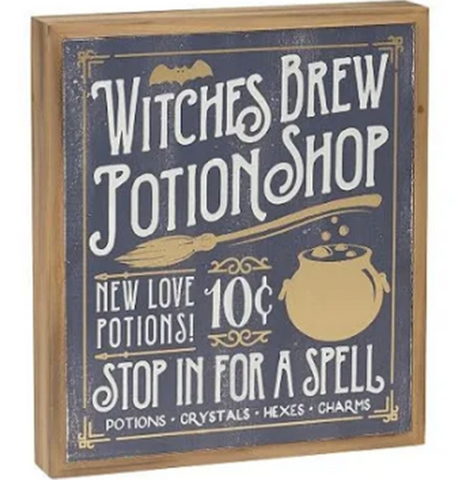 "Box Sign ""Witches Brew"""