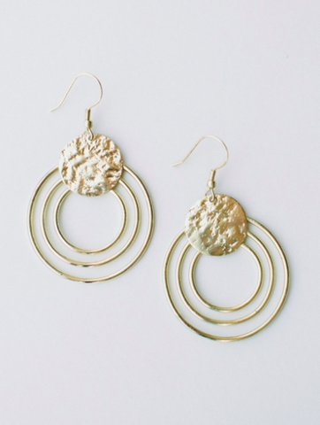 Earrings, Splendid Sun Gold