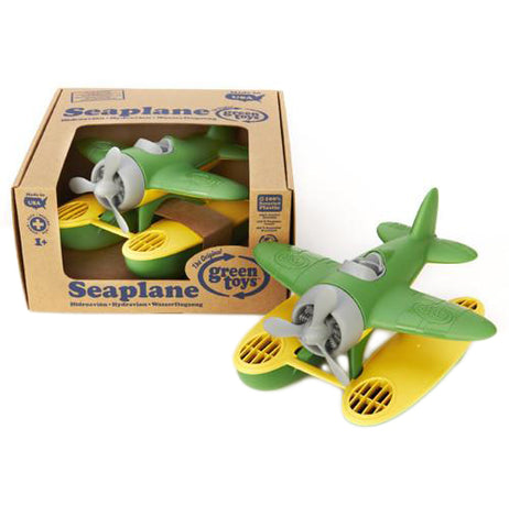 Green Sea Plane with yellow accents in eco-friendly packaging