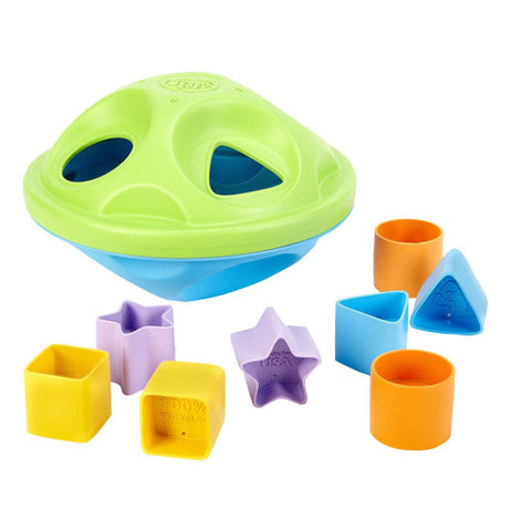 Shape sorter kids game with square, star, circle, and triangle shapes.