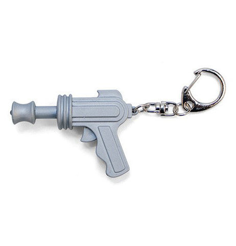This is a led key ring shaped like a space gun.
