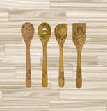There are four of the Solid Beechwood utensils.