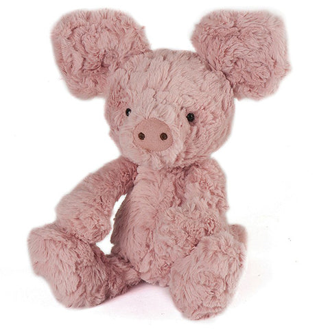A pink Super Softies, Small Squiggle Piglet is shown from the front.