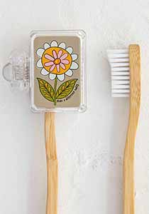 "Toothbrush Cover, Daisy ""Make A Difference Today"""