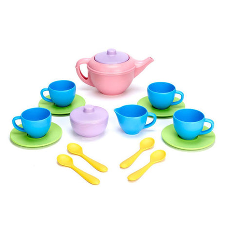 The Tea Set has the imaginative things already set on the white background.