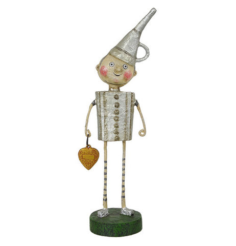Wizard of Oz Tin Man figurine holding heart