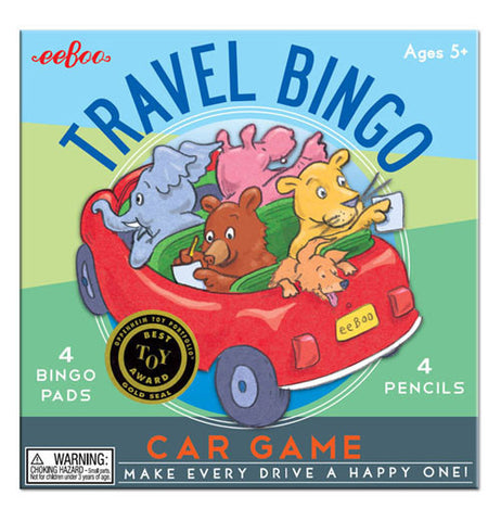Its a picture of an elephant, hippo, lion, bear, and a dog riding in a car