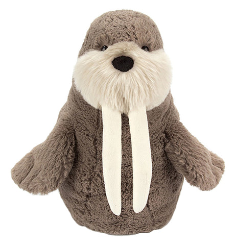 "The ""Willie Walrus"" has a chocolate-cream fur with white tusks and a mustache."