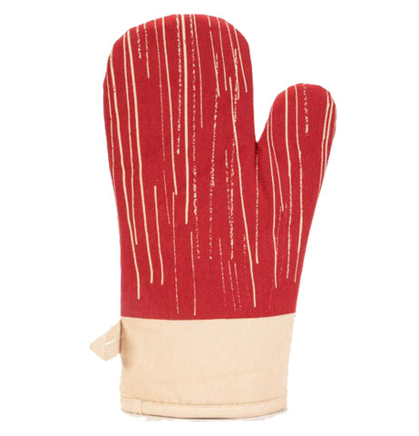 The picture shows the cat scratch marks on the opposite side of the glove.