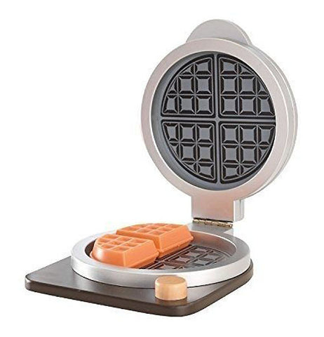black, tan, sliver and brown waffle play set