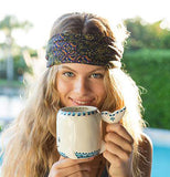 "Girl Holding Ceramic Folk Art Mug ""Whale"""