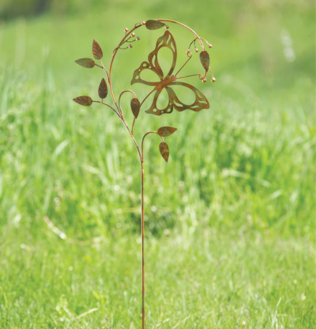 "The ""Butterfly on a Branch"" Garden Stake makes a great scenery outside the yard."