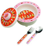 4 piece princess Baby Bowl Set theme comes with bowl, lid, spoon and fork