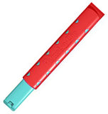 The rectangular red Adjust-A-Clip on with aqua triangles.