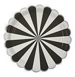 Black and white spiral Plates.