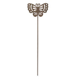 "The ""Butterfly"" Garden Pick is a Brown mini garden butterfly pick."